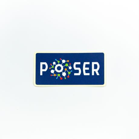 ポーザーロゴSサイズステッカー