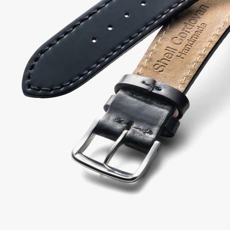 NOMOS Glashütte / Horween Genuine Shell Cordovan black / genuine strap