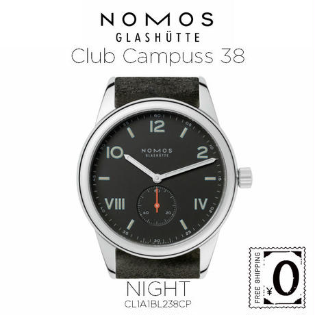 NOMOS GLASHUTTE Club  Campuss 38(クラブ キャンパス 38)ナイト / シースルーバック (CL1A1BL238CP)