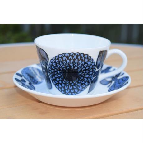 【北欧ヴィンテージ】【グスタフスベリ】【スティグ・リンドベリ】ブルーアスター コーヒーカップ&ソーサー