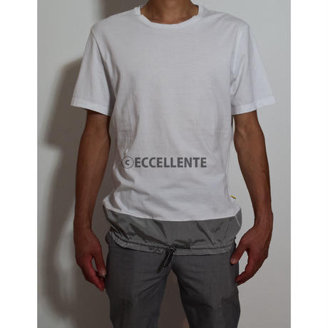 【ロウ・ブランド】【イタリア製】異素材ミックスTシャツ