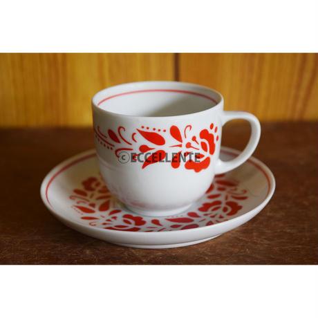【東欧ヴィンテージ】【ホロハーザ】フォークロア コーヒーカップ&ソーサー