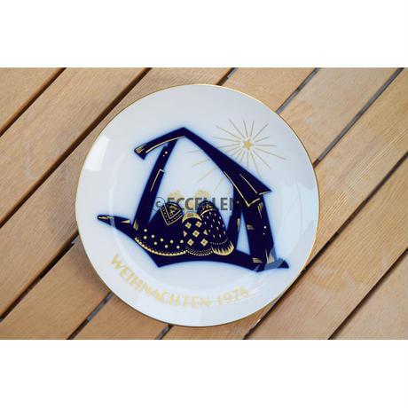 【ヴィンテージ雑貨】【ベルリン王立磁器製陶所】クリスマスアニュアルプレート 1978