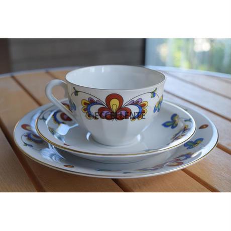 【北欧ヴィンテージ】【ポシュグルン】ファーマーズローズ コーヒーカップトリオ