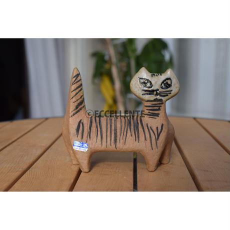 【北欧ヴィンテージ】【グスタフスベリ】【リサ・ラーソン】【小さな動物園】ネコ