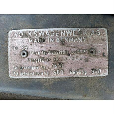 【OHV customs】【フォルクスワーゲン】'68 TYPE 3 SQB (チャコールグレー x ブラックインテリア / LH)