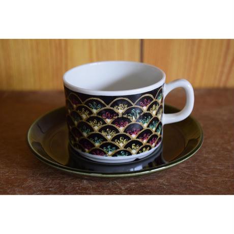 【北欧ヴィンテージ】【ゲフレ】ヴァレンシア コーヒーカップ&ソーサー