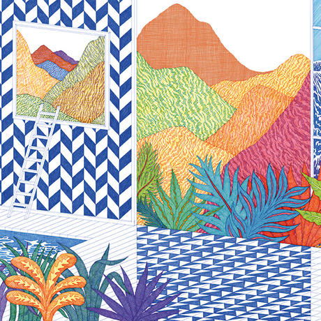 "HERMES 壁紙 エルメス ""DECOR MURAL TROPICAL SWIM"" 1ロール (10m)"