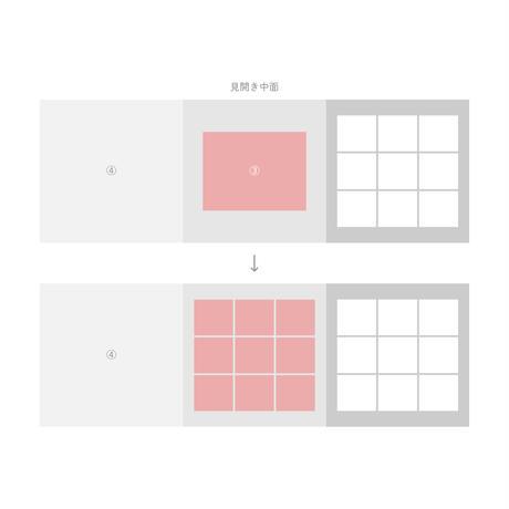 3面アルバム - エコー写真9枚追加オプション