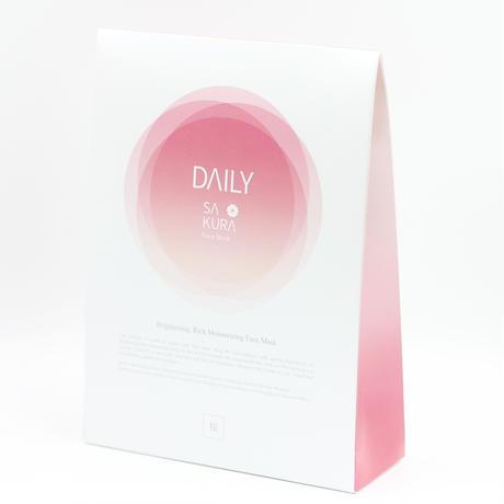 SAKURADAILY   Facemask  brightning, 4Sheets/20ml 国産ヒト幹細胞培養液、APPS配合ブライトニングパック 送料無料!