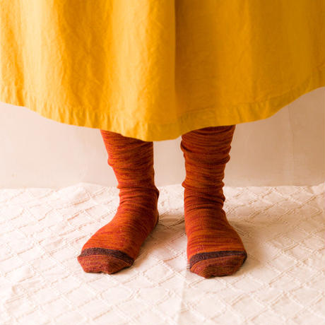 TANSU【100% PURE COTTON ARTISAN SOCKS /terracotta orange】