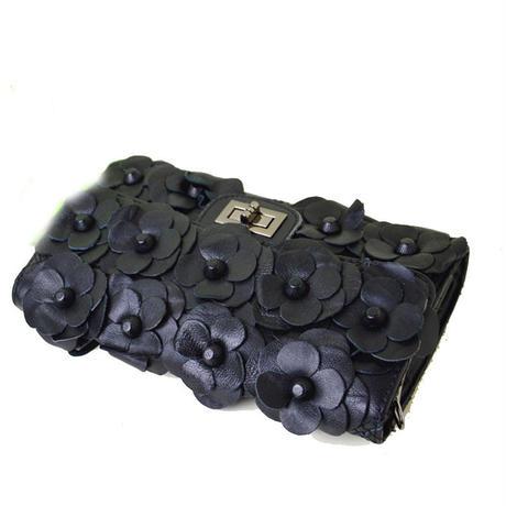 レザーカメリアクラッチバッグ