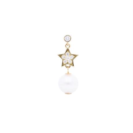 スターパールピアス  (Star pearl pierced earring)