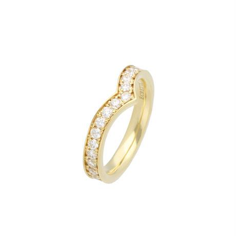 フルエタニティVリングK18  (Full eternity V ring K18)