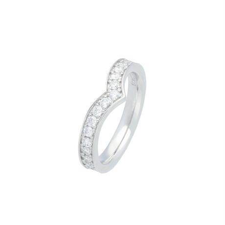 フルエタニティVリングPt900  (Full eternity V ring Pt900)