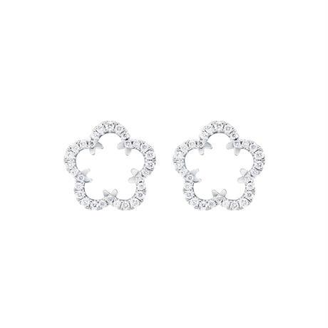 【New】Kikyo Crest mini pierced earring Pt900
