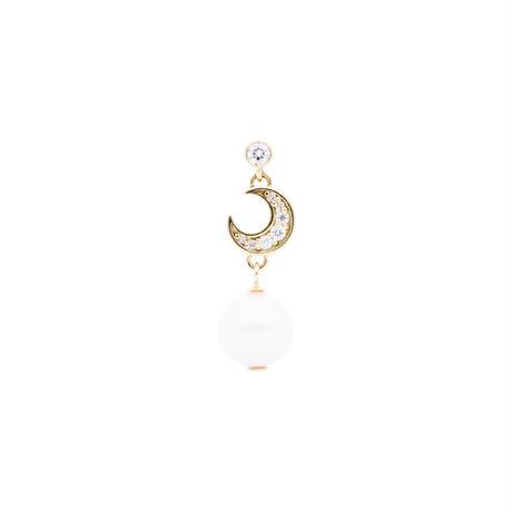ムーンパールピアス(Moon pearl pierced earring)
