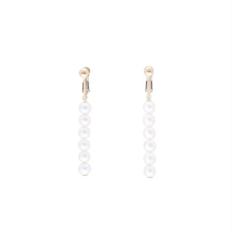 ベビーパール ラインイヤリング K10YG (Baby  pearl  earrings )