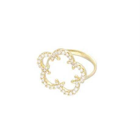 桔梗紋リング (Kikyo Crest ring K18YG)