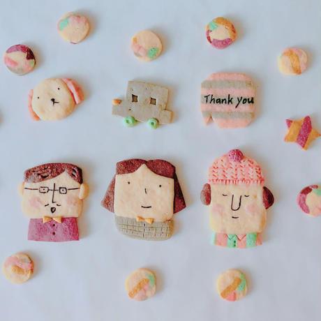 3/2日発送 おひなさま動画レッスン 手作りクッキーキット(ラッピング用品なし)