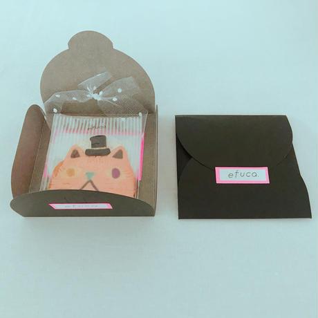 pinkネコ(クッキー1枚、ギフトボックス入り)