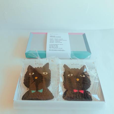 blackブサネコセット(クッキー2枚、ギフトボックス入り)