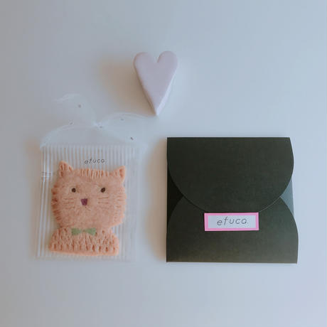 pinkブサネコ(クッキ1枚、ギフトボックス入り)