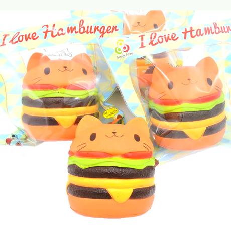 【送料無料】【SanQi Elan】I Love Hamburger/ジャンボ猫ハンバーガー/スクイーズ
