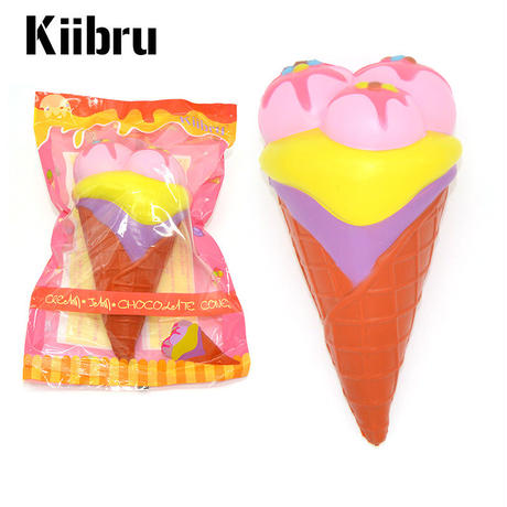 【送料無料】【Kiibru】3個玉スーパージャンボアイスクリーム/スクイーズ