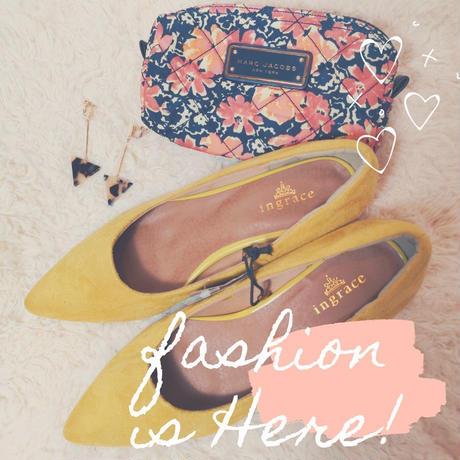 【靴ずれ軽減♡機能】ふんわりパンプス /yellow (24.5cmのみ)