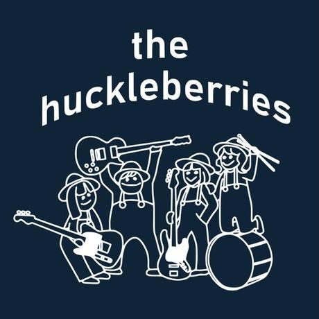 the huckleberries / メンバーイラストTシャツ(メトロブルー)