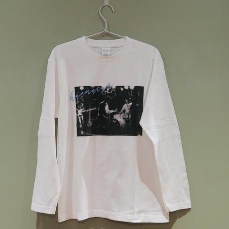 ハイエナカー / ライブフォトロングスリーブTシャツ(ホワイト)