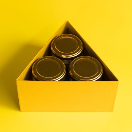 ギフトボックス〈塩3個入り/ エ塩・チョコエ塩・辛エジプト塩〉