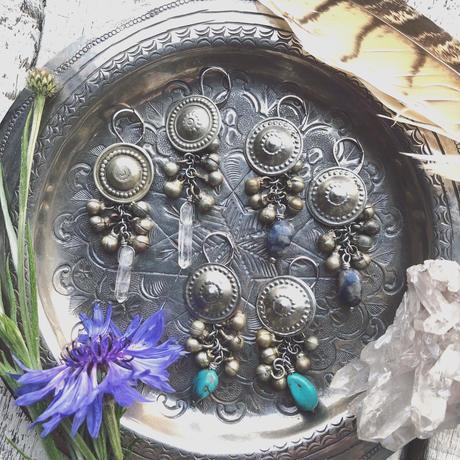 Afghan Concho Earrings