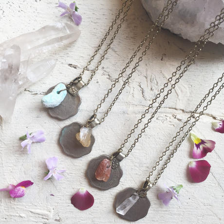 India Coin/Gem Stone Necklace S