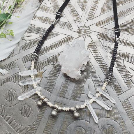 Vintage Bells/Buffalo Bone Beads Necklace