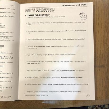 The Slangman Guide to Biz Speak: Slang, Idioms & Jargon Used in Business English