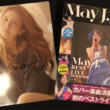 May J. 直筆サイン入り クリアファイル & DVDセット
