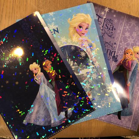 ディズニー アナと雪の女王 クリアファイル 3枚セット