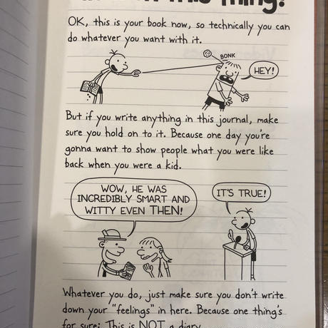 No.4 Diary of a Wimpy Kid  Do-it-Yourself Book ハードカバー 高級保存版