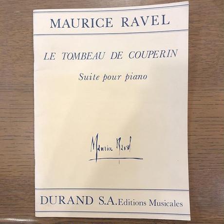 ピアノ楽譜  ラヴェル  クープランの墓
