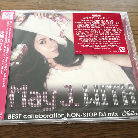 May J. アルバム「WITH ~BEST collaboration NON-STOP DJ mix~」mixed by DJ WATARAI