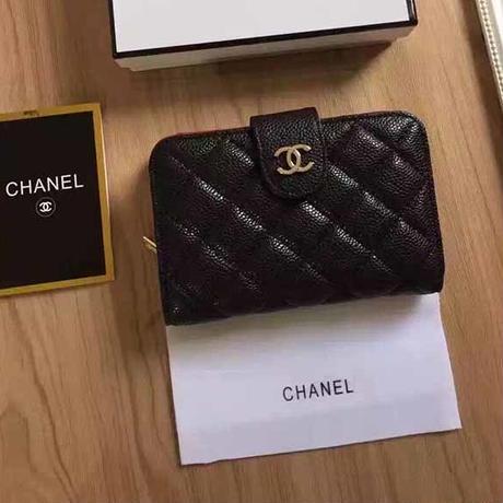 シャネル 本革二つ折り財布 ボタン式 男女兼用WSCH0899-4
