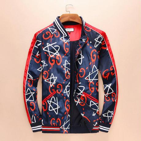 グッチ 最新作! ジャケット かっこよく 男女兼用 星柄 セレブ愛用 人気新品 メンズファッション
