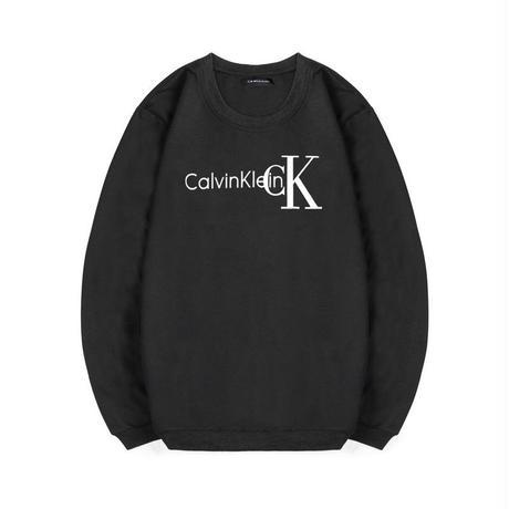 早春新品 カルバンクライン Calvin Klein スウェット 人気トレーナー 男女兼用 カップル ブラック