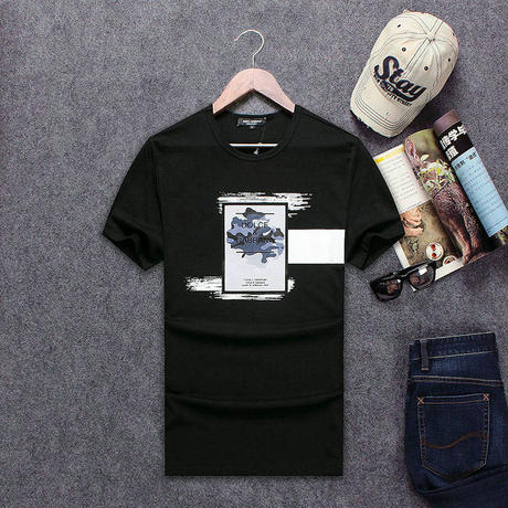 最新 ドルチェ&ガッパーナ/D&G 人気 メンズファッション Tシャツ メンズ愛用 3色 コーヒー アウトドア 春 半袖 男女兼用