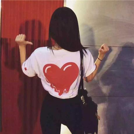 チャンピオン Tシャツ ハート 男女兼用 夏用 2色