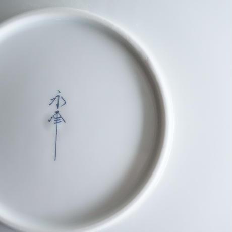 和モダン  19㎝皿   市松  青