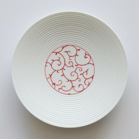 和モダン 15㎝皿 唐草 赤