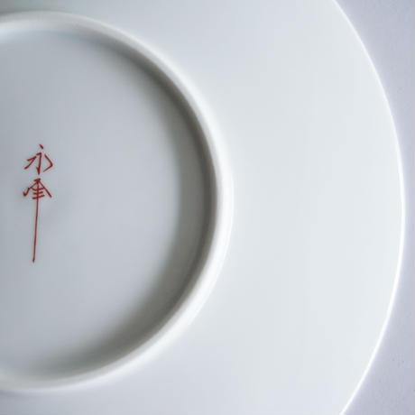 和モダン  19㎝皿   七宝   赤